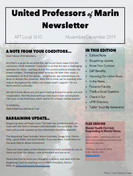 November and December NewsLetter