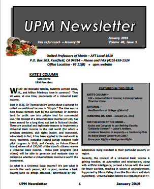 January 2019 UPM Newsletter
