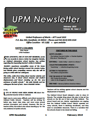 Feb 2019 UPM Newsletter